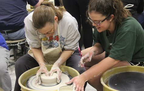 Art students throw pottery with blind, visually impaired