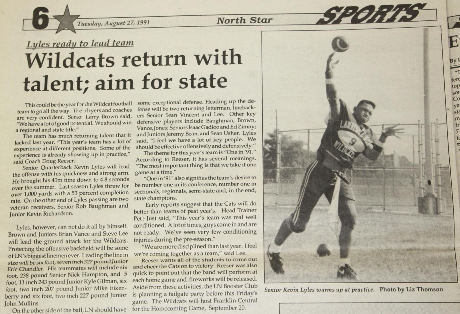 North Star Time Capsule: 1991 football team opens season with talent; aim for state