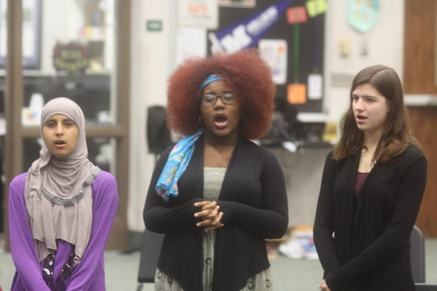 Students learn to work together in new combined choir class with exceptional learners