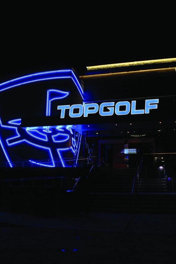 Swinging away at Top Golf