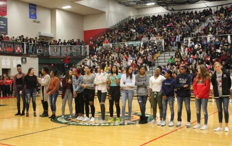 Lawrence North encourages athletes through pep rally